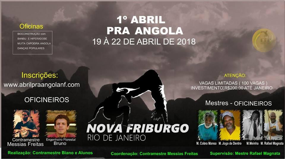 1º Abril para Angola Nova Friburgo