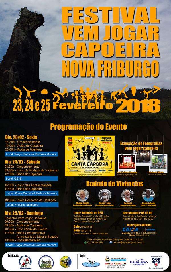Festival Vem Jogar Capoeira Nova Friburgo