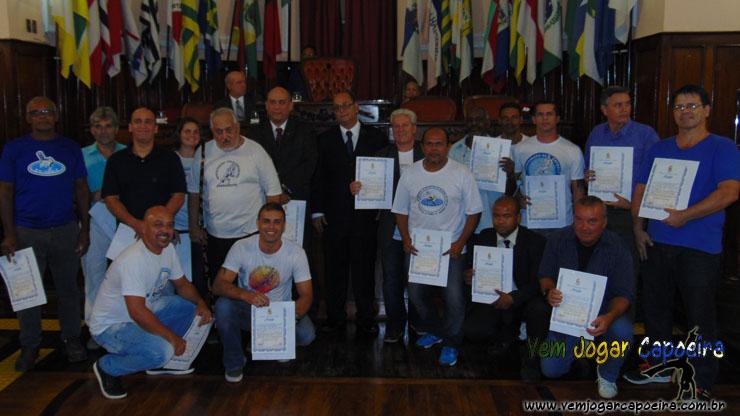Homenagem da Câmara Municipal de Niterói/RJ à Mestres de Capoeira