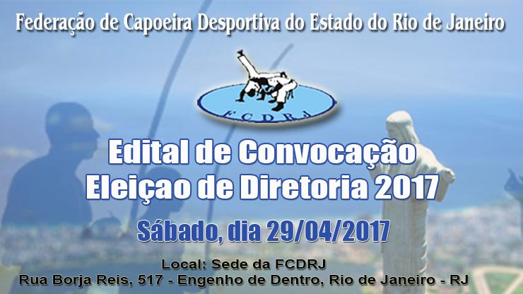 Edital de Convocação - Eleição de Diretoria da  FCDRJ (2017)